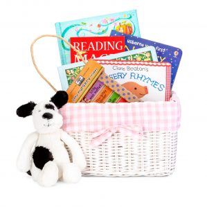 nursery rhyme book gift basket