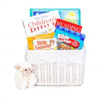 christening book gift basket