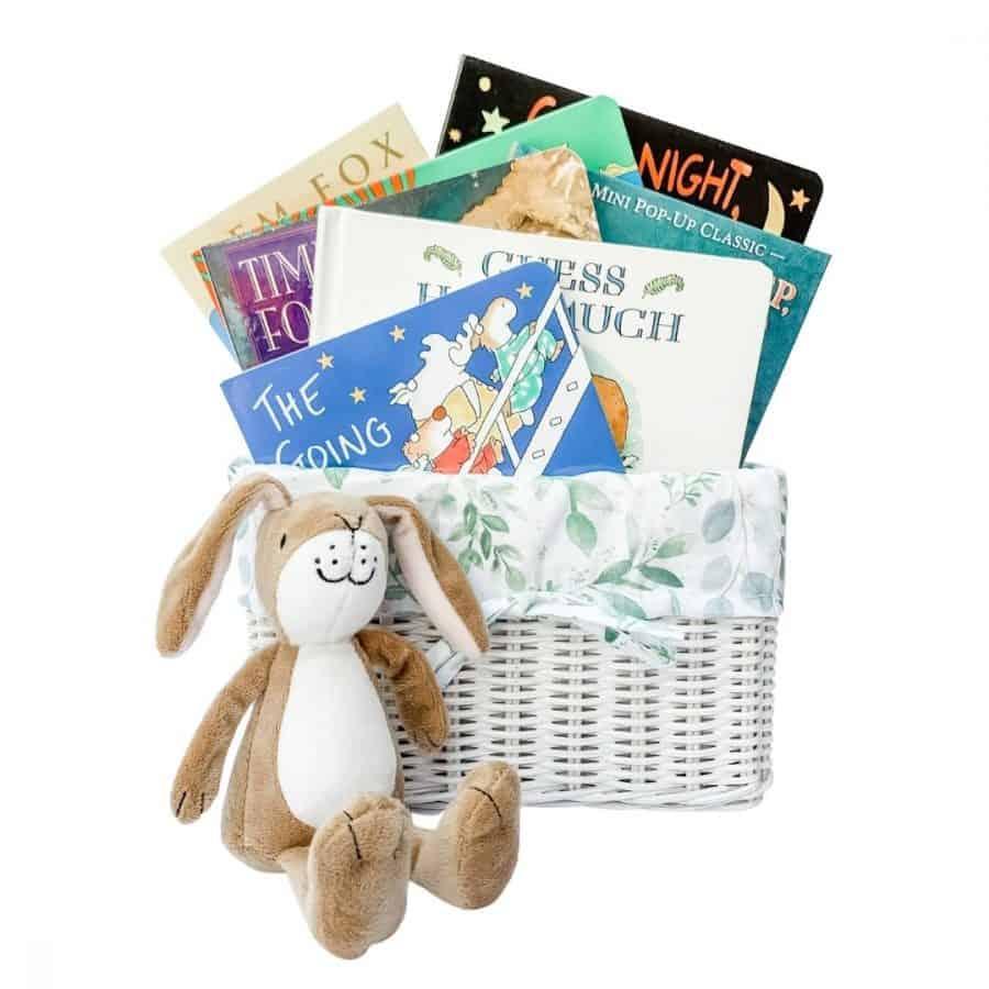 bedtime gift basket, best bedtime books for babies