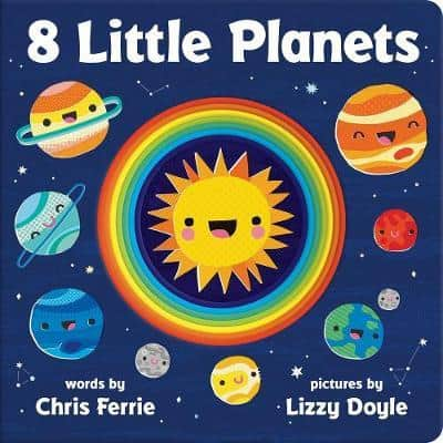8 little planets, science books for babies