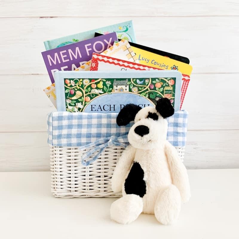 nursery rhyme gift basket blue, nursery rhymes and poems