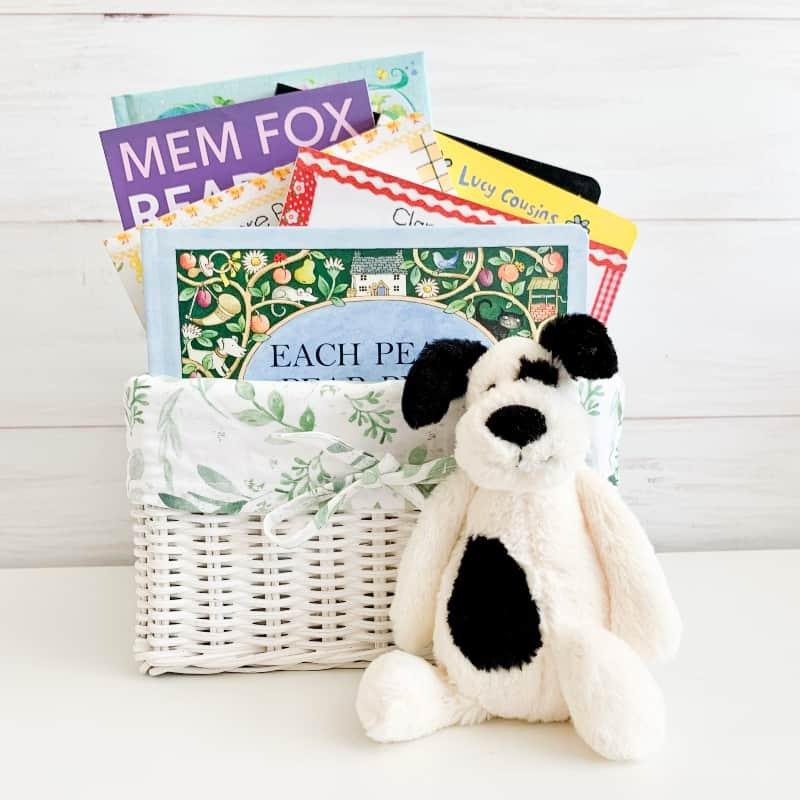 nursery rhyme gift basket botanical print, nursery rhymes and poems,