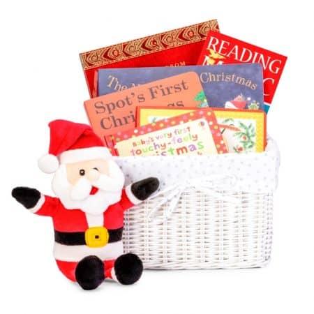 christmas gift basket, christmas books for kids